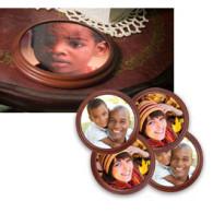 Mahogany Coasters (set of 4)