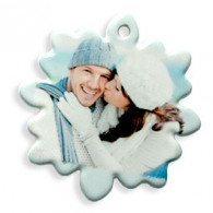Porcelain Photo Ornament Snowflake